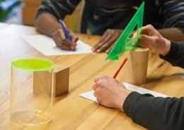 Geometrie Unterricht in der Berufsbegleitung der Jugendhilfe Köln e. V.