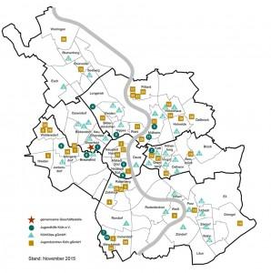 Plan des Trägernetzwerks Jugendhilfe Köln und Tochtergeselllschaften