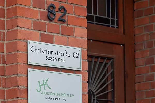 Jugendhilfe Köln Eingang Haupthaus in der Christianstr.