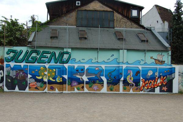 Graffiti in der Jugendwerkstatt Kalk 2016